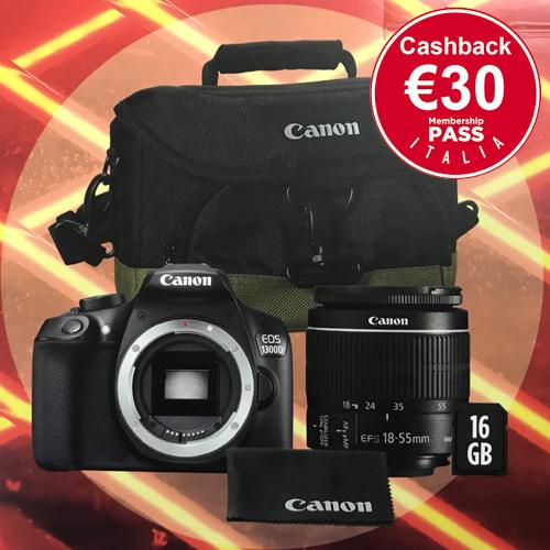 nuovo prodotto Garanzia di qualità al 100% il più votato a buon mercato Canon Eos 1300D kit Borsa e scheda cash 30 | Hobbyfoto