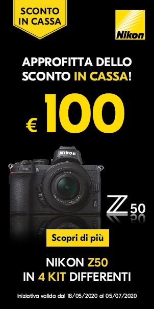 Nikon Z50 Sconto in Cassa